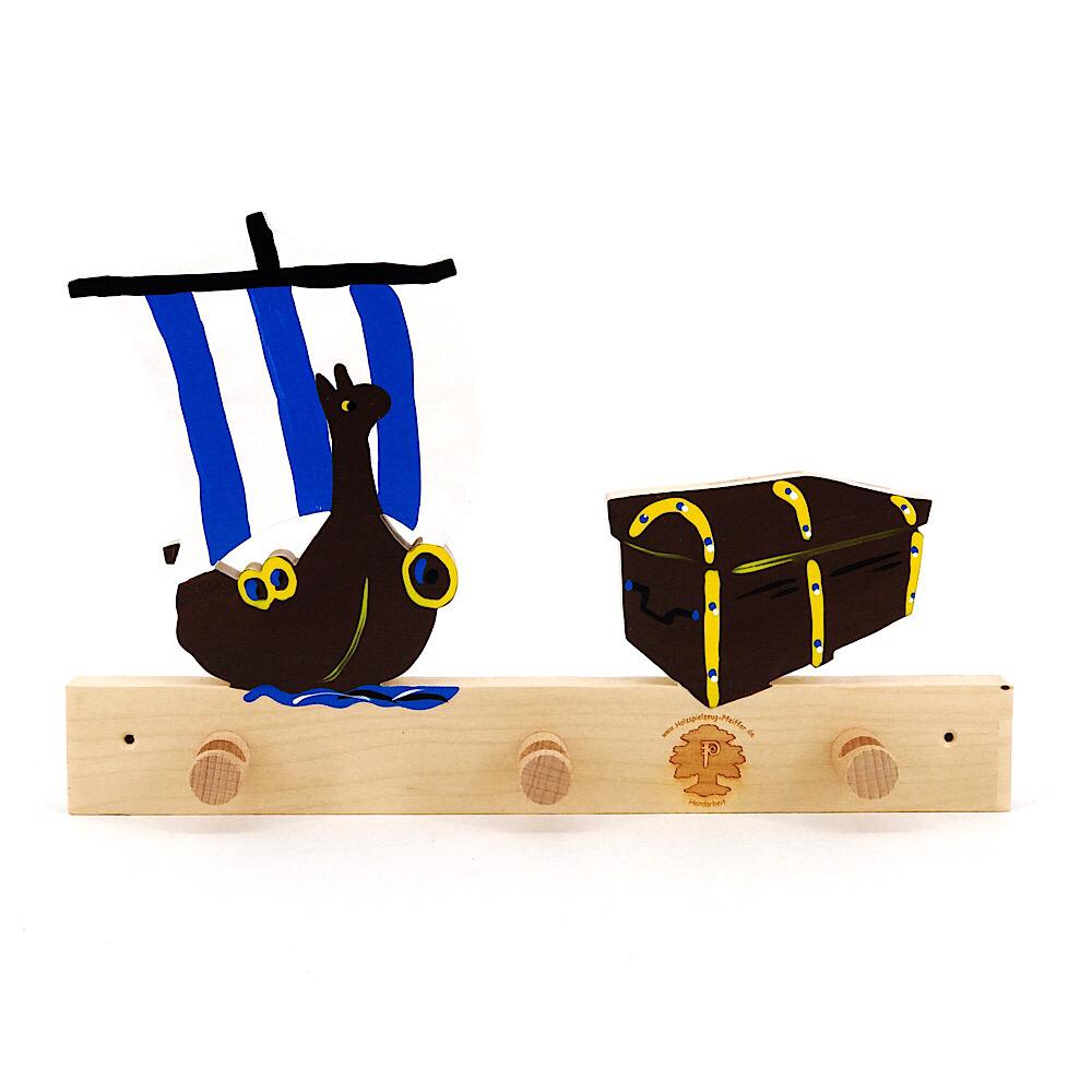 Garderoben f r gravuren wikingerschiff truhe for Garderobe individuell