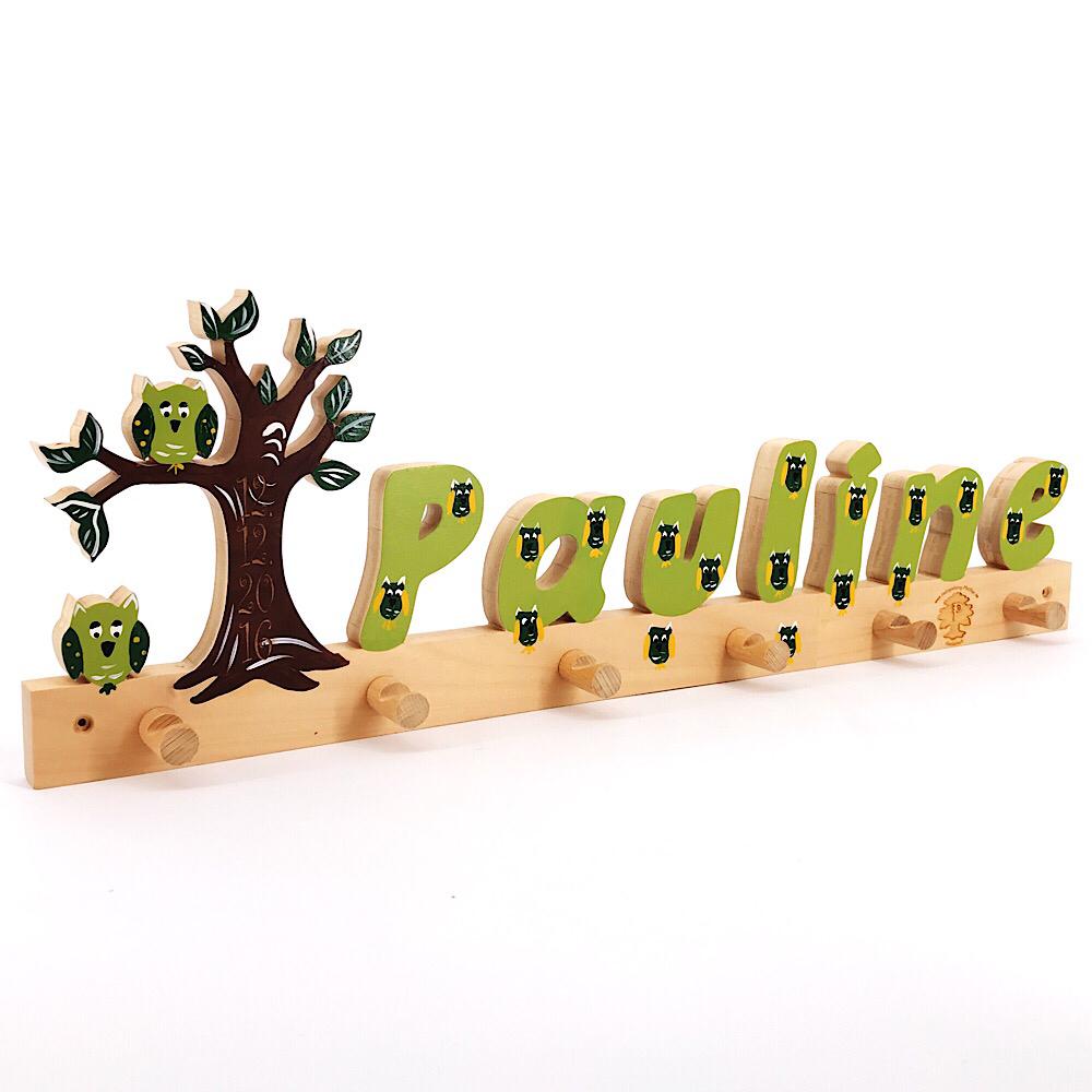 Garderobe Mit Buchstaben Baum Mit Eulen I