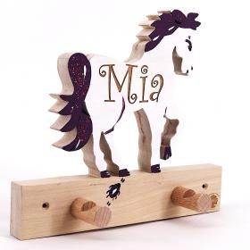 Garderobe f r gravuren pferd for Garderobe individuell